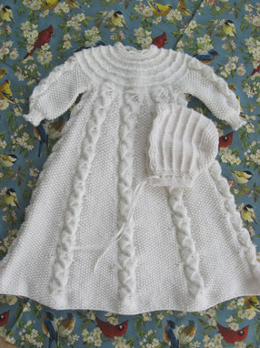 Folded Ribbon Christening Gown Judy S Knitting Page