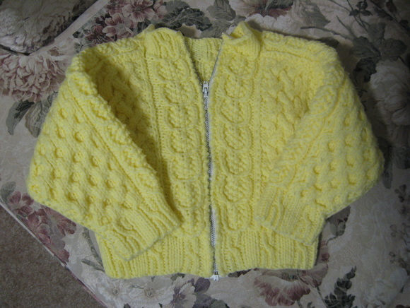 Knitting Stitch By Judy : Toddler Cabled Jacket - Judys Knitting Page