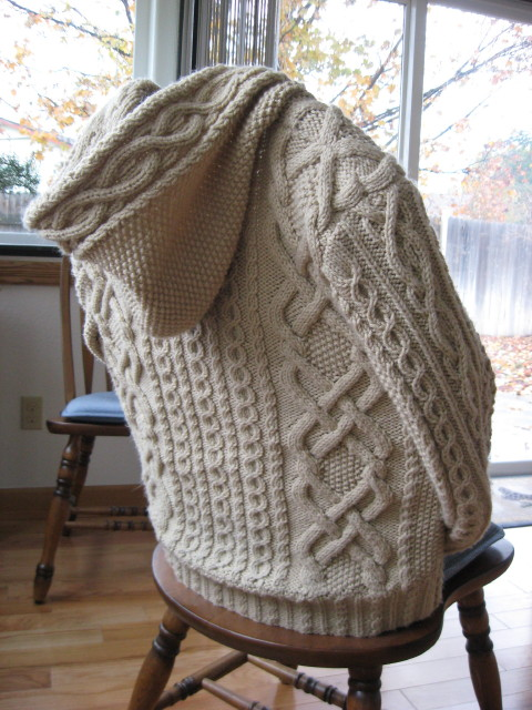 Knitting Patterns For Hooded Sweaters : Knitted Pattern For Hooded Baby Sweater - Cardigan With ...